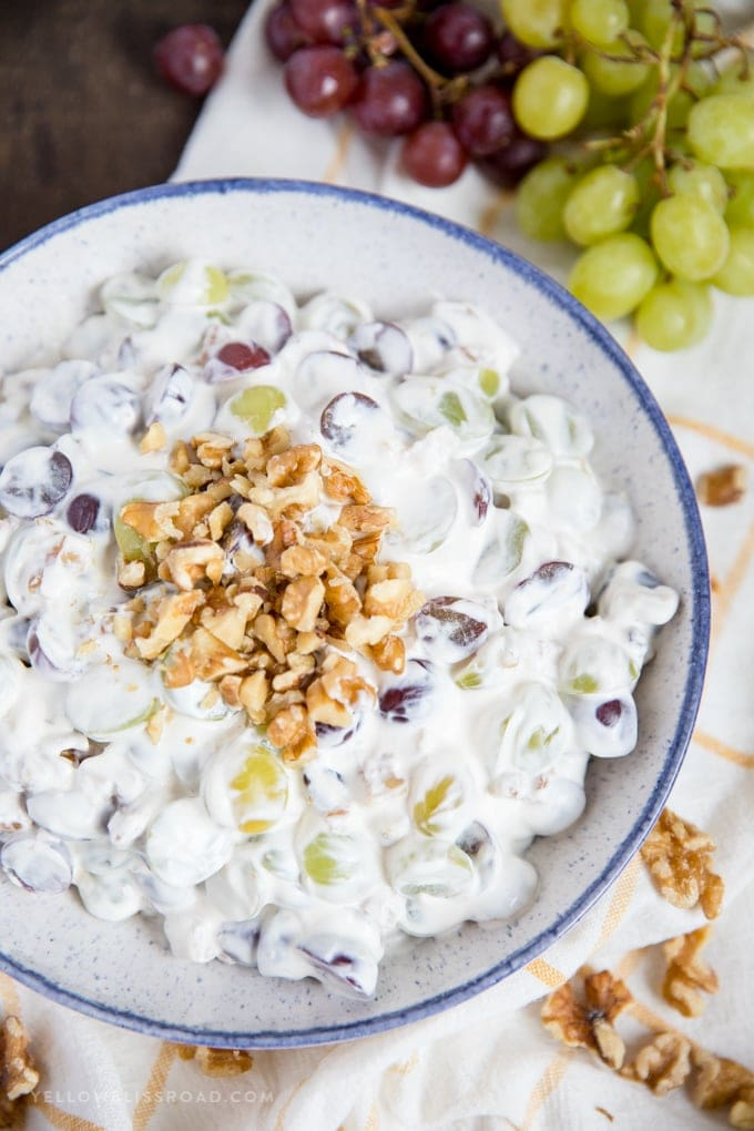 Creamy Grape Salad with Walnuts | Cool and Refreshing Side ...