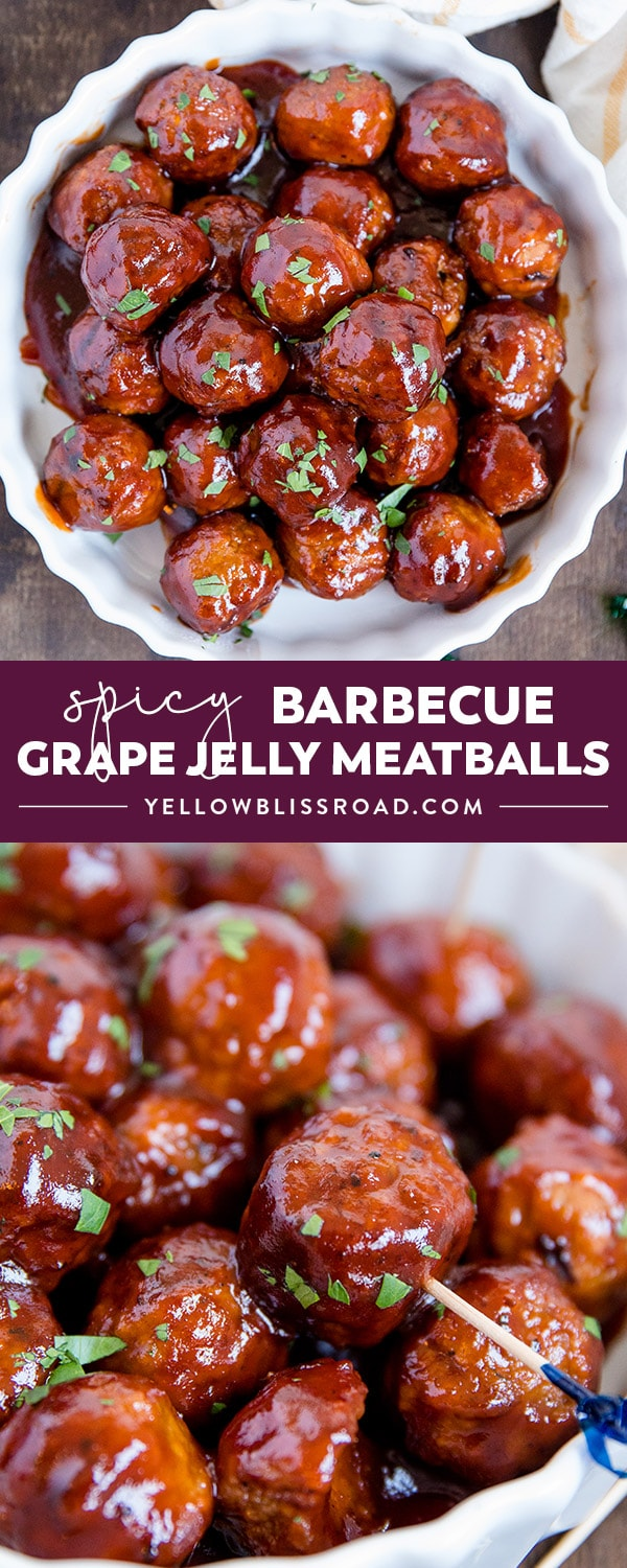 Spicy Barbecue Grape Jelly Meatballs Appetizer Or Dinner