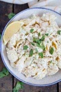 tuna pasta salad mayonnaise