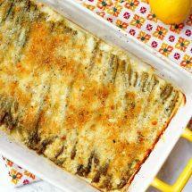 Asparagus Gratin with Lemon