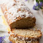 Coconut Banana Bread with Orange Glaze