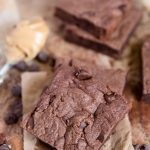 A close up of Chocolate Peanut Butter Brownies