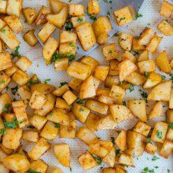 Social media image of breakfast potatoes