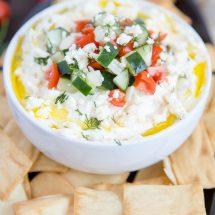 Greek Whipped Feta Cheese Dip