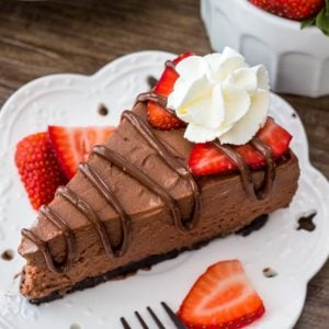 Easy no bake Nutella cheesecake