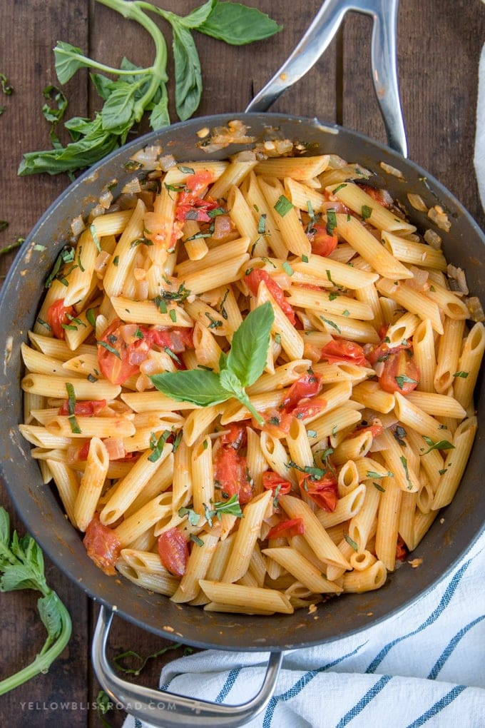 tomato basil pasta tomato basil pasta easy penne pasta recipe for lunch or 11959