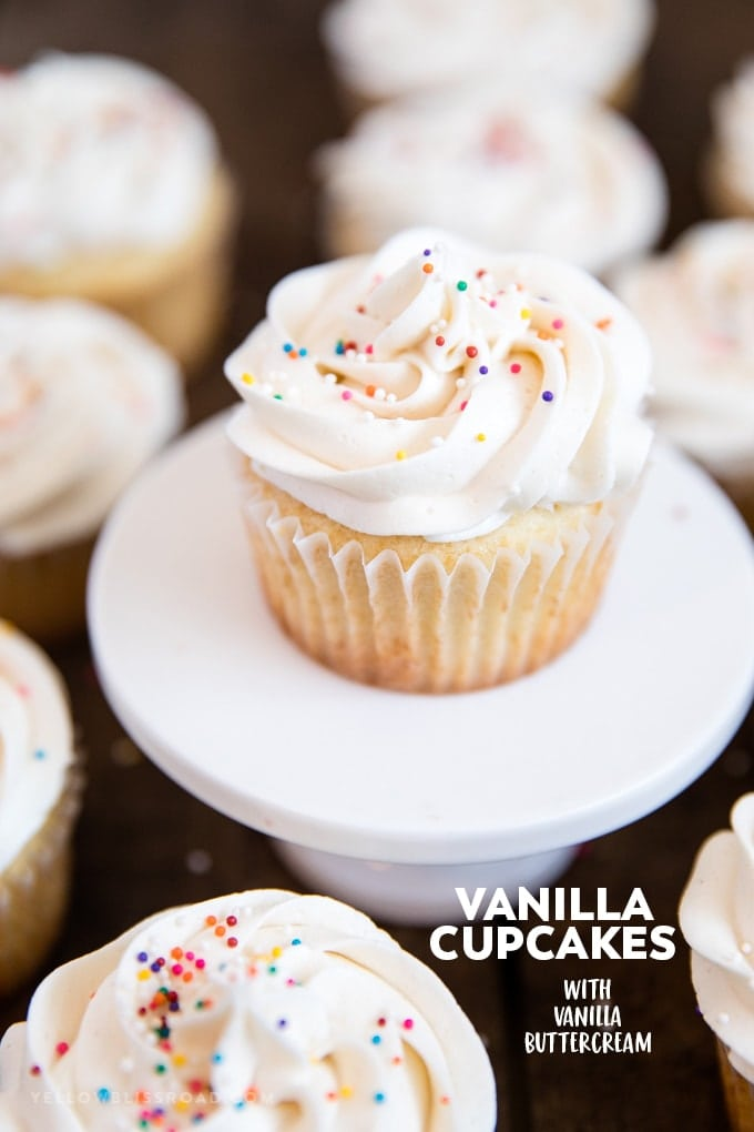 Easy Vanilla Cupcakes with Vanilla Buttercream | Dessert | Baking | Cake recipe