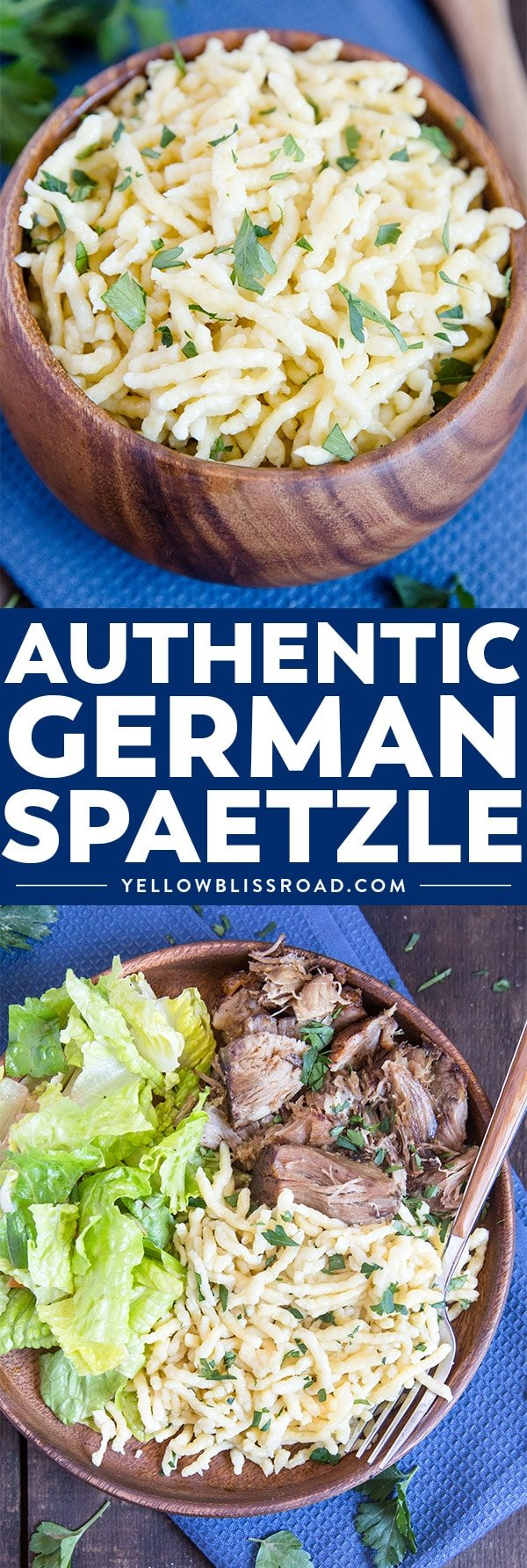 Authentic German Spaetzle make with a spaetzle maker
