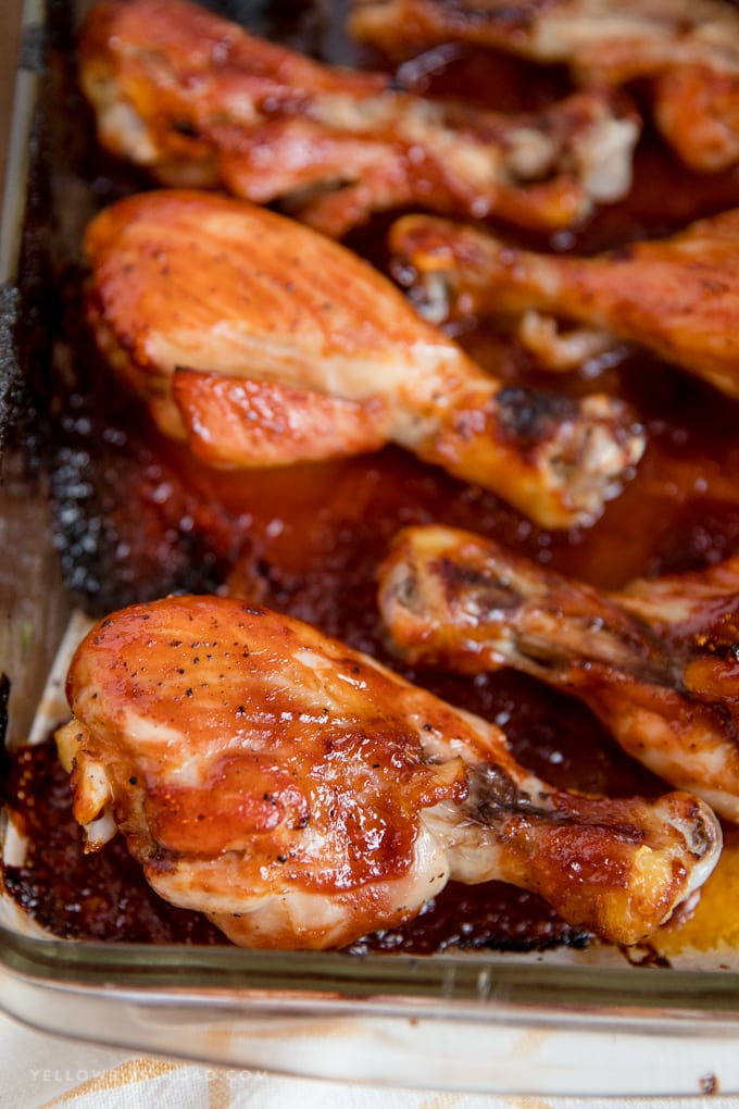 Barbecue Baked Chicken Drumsticks Yellow Bliss Road