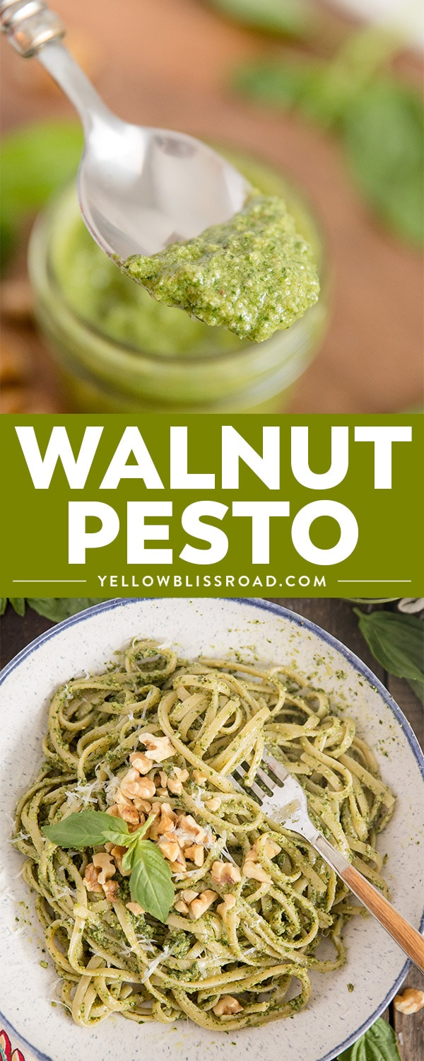 Walnut pesto collage