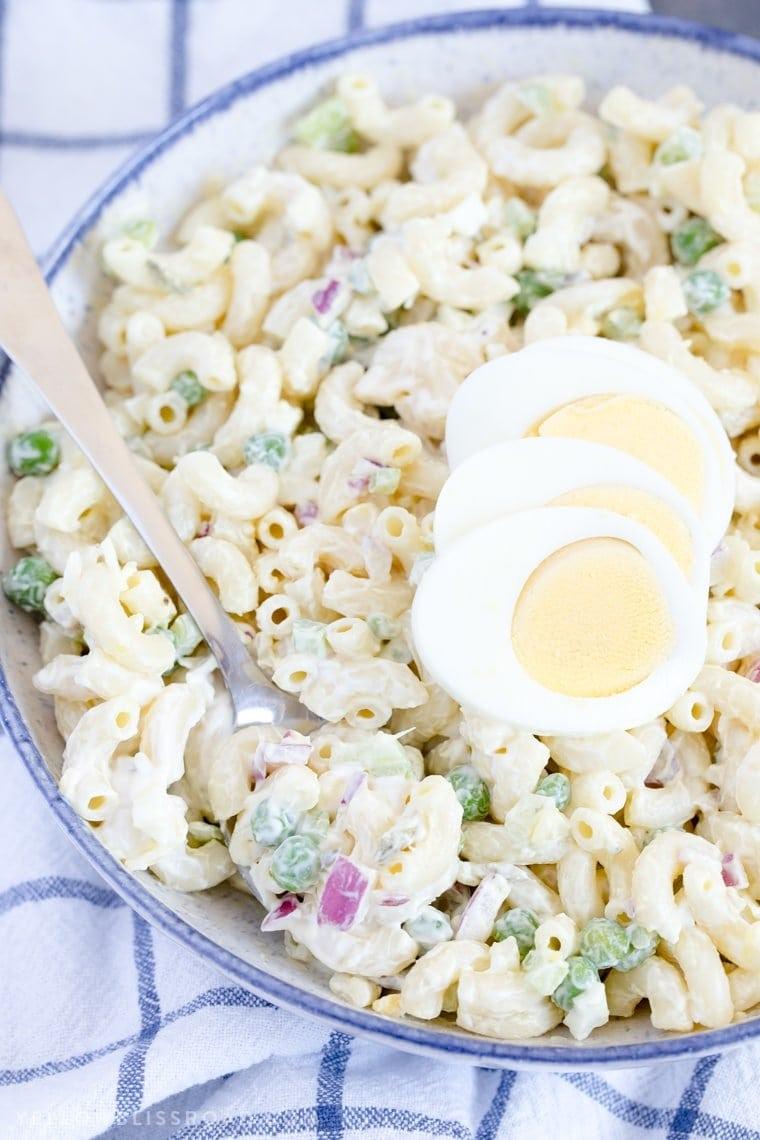 A bowl of Macaroni Salad