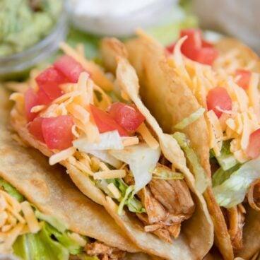 Social media image of chicken tacos tacos