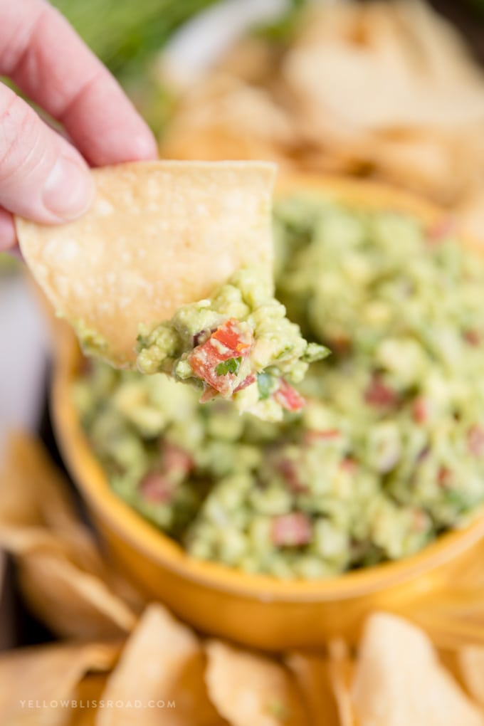 a chip with the best guacamole
