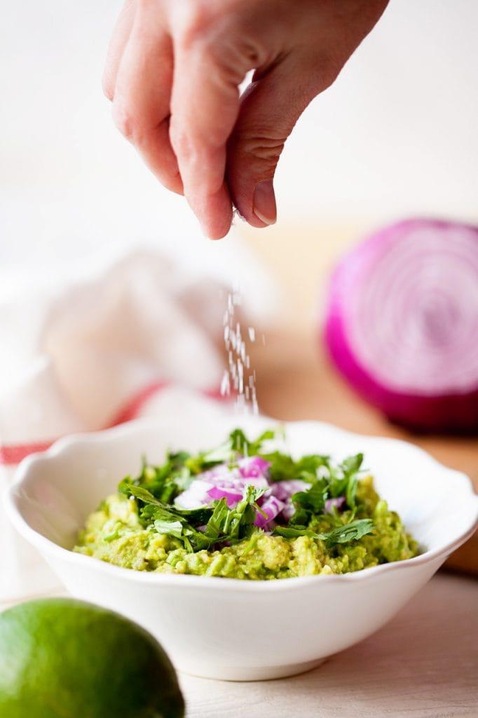 A bowl of Guacamole