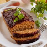 Mexican Meatloaf on a plate