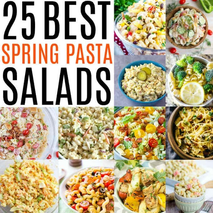 do you have a hankering this time of year for some delicious pasta salad recipes well have no fear we have the best 25 spring pasta salads that you can