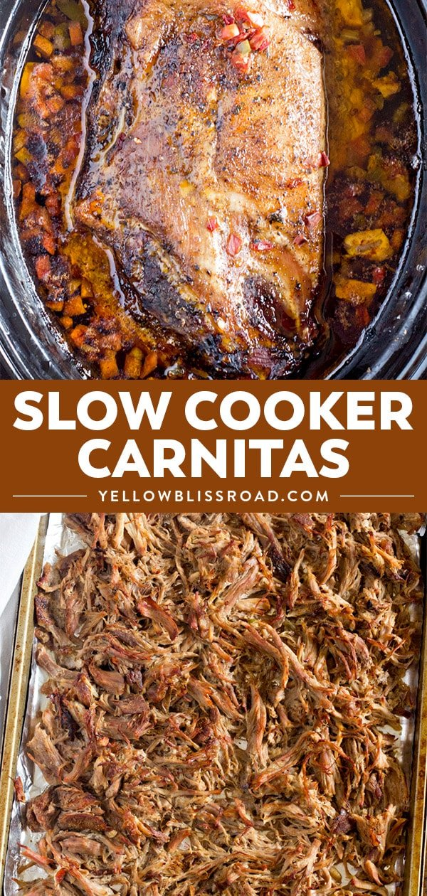 slow cooker carnitas pin