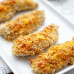A plate Pretzel Crusted Baked Chicken