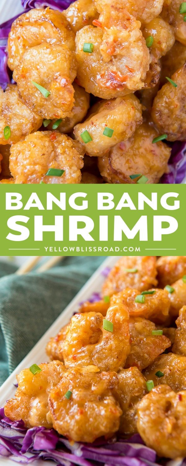 Often duplicated, always delicious, this copycat Bonefish Grill Bang Bang Shrimp recipe will have your family craving seafood every week! Crispy fried shrimp are tossed in a creamy, slightly spicy sauce that's made with a secret ingredient to take it over the top!