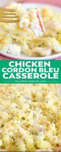 Social media image of Chicken Cordon Bleu Casserole