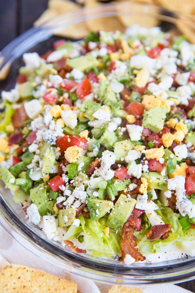 cobb salad dip with black pepper