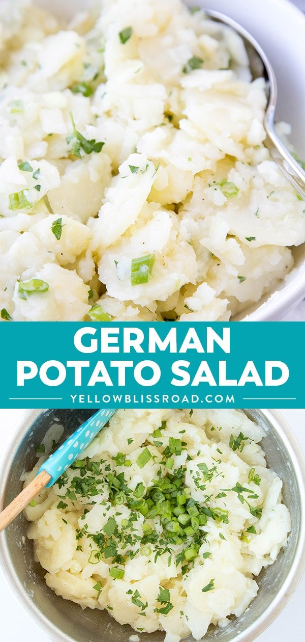 German Potato Salad Recipe collage