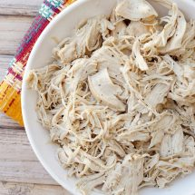 moist shredded chicken made in a pressure cooker