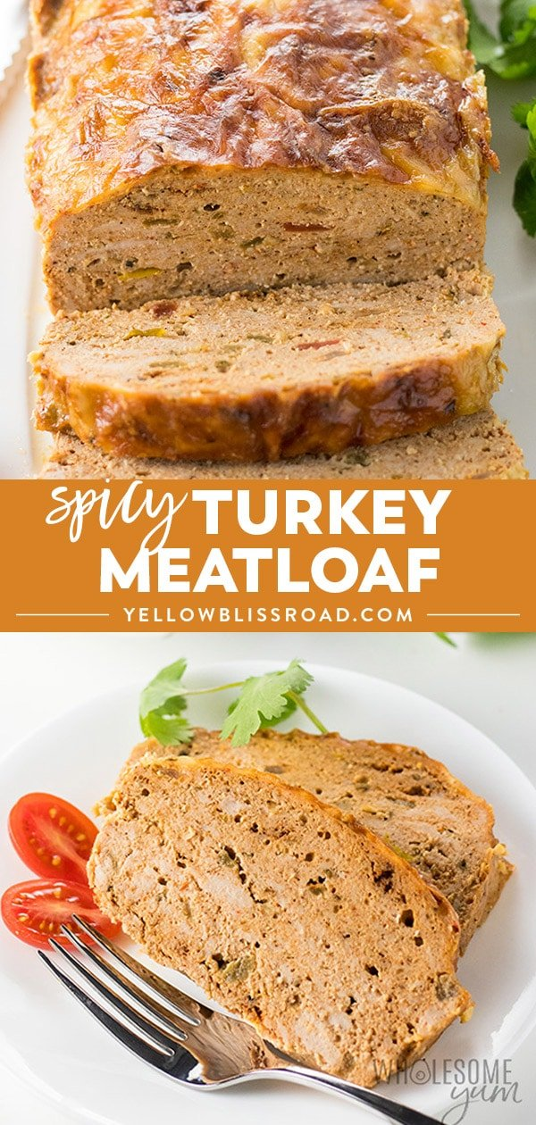 ground turkey meatloaf recipe photo collage