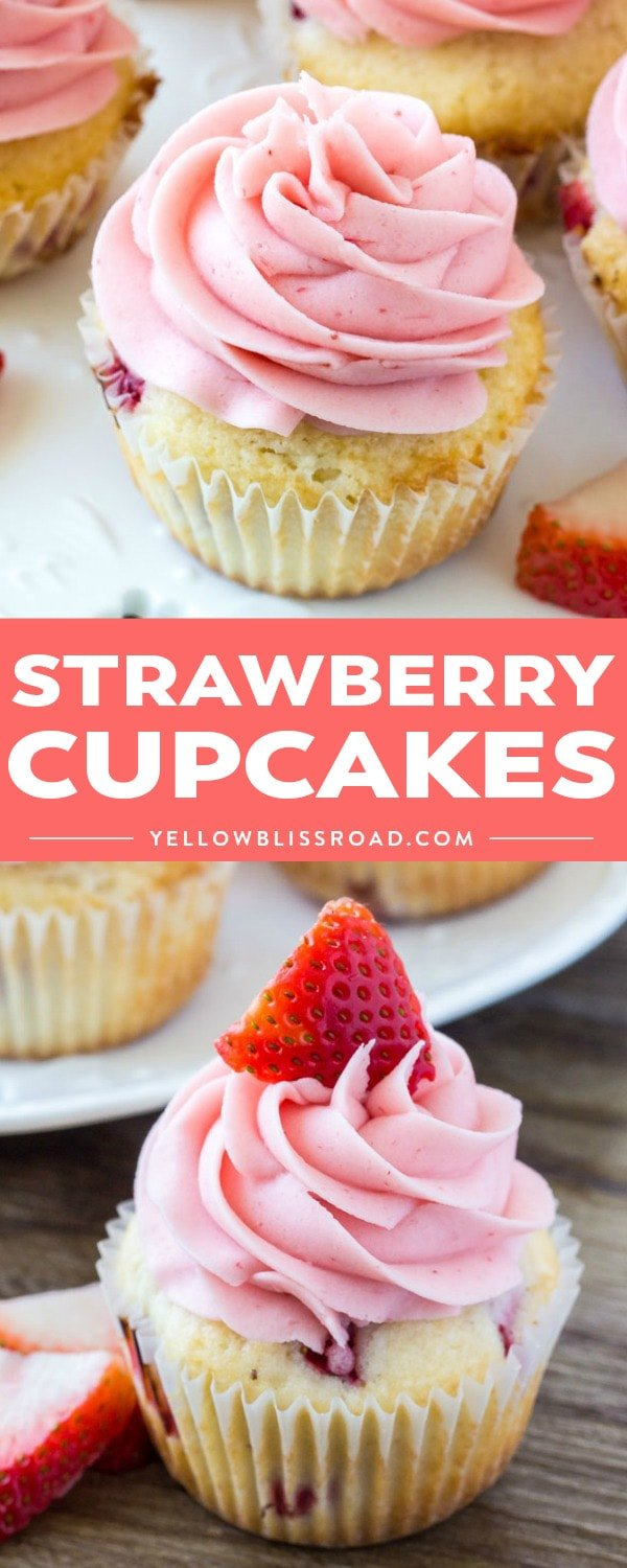 Social media image of Strawberry Cupcakes