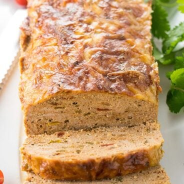 Mexican Turkey Meatloaf on a plate