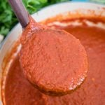 A close up of Spaghetti Sauce
