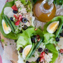 Nicoise Salad Lettuce Wraps