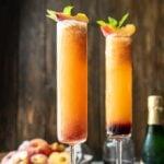 Two glasses of Peach Bellini