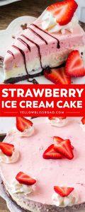 Social media image of Strawberry Ice Cream Cake