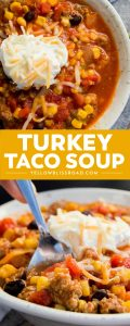This simple Turkey Taco Soup is loaded with ground turkey, beans, and flavor. It's simple to make and get on the table and a recipe that everyone is going to love!