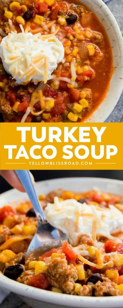 This simpleTurkey Taco Soup is loaded with ground turkey, beans, and flavor. It's simple to make and get on the table and a recipe that everyone is going to love!