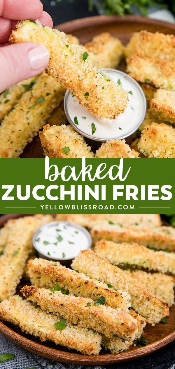 Baked Zucchini Fries photo collage