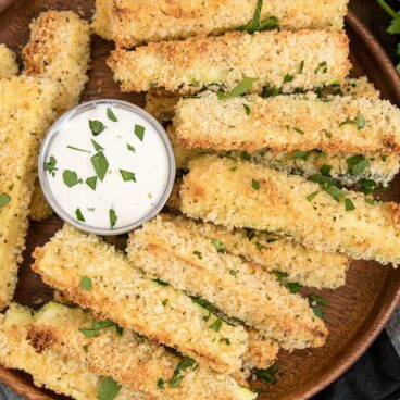 A plate of baked zucchini