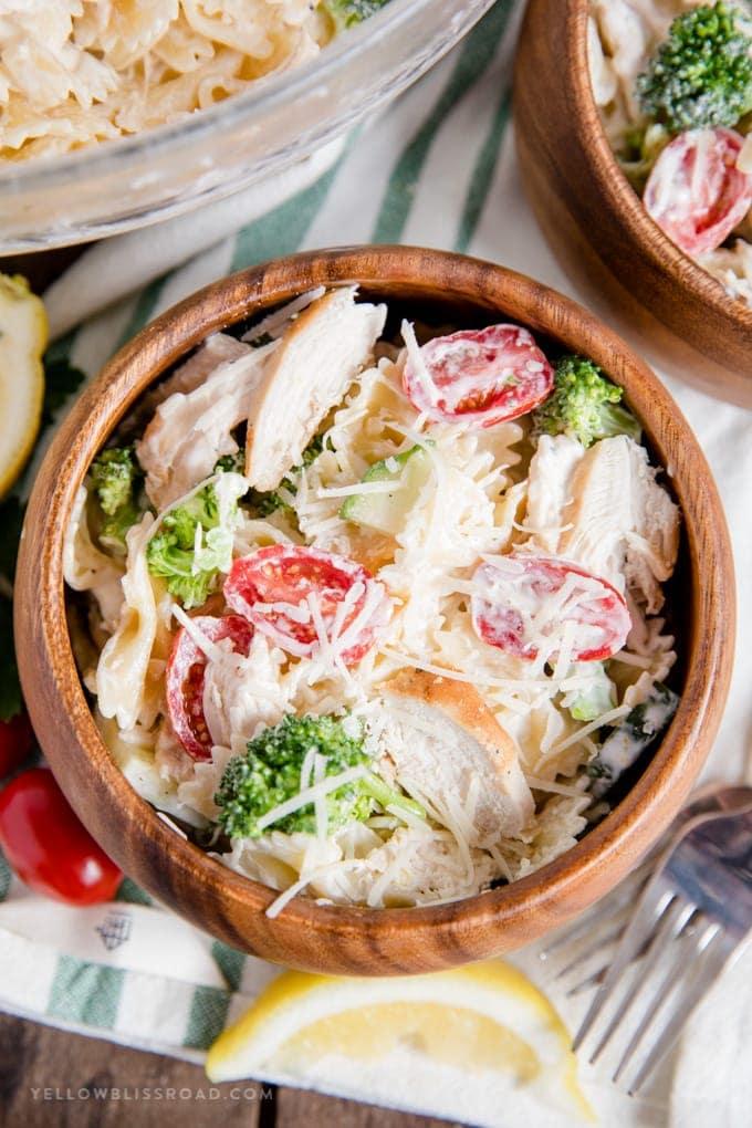 Creamy Chicken and Veggie Pasta Salad