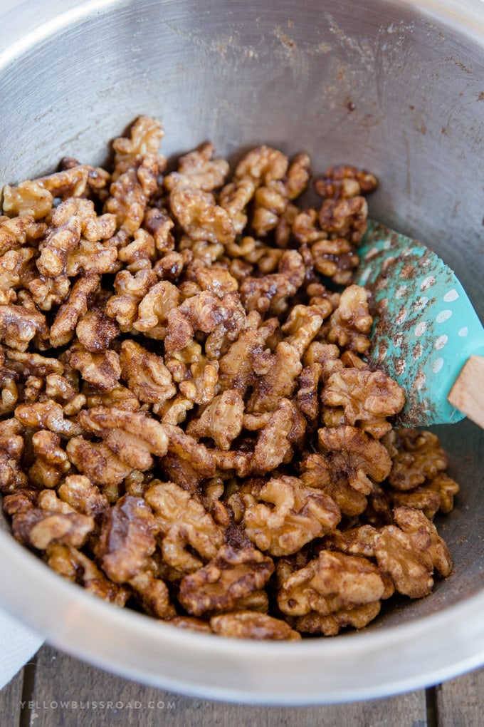 churro walnuts before baking