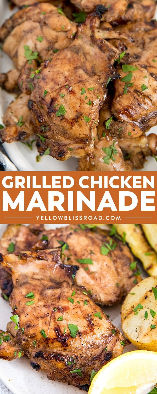 A great grilled chicken marinade collage