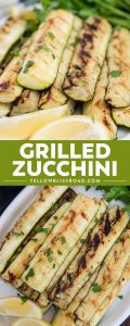 grilled zucchini collage