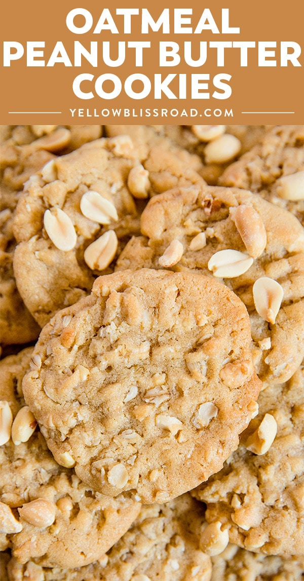 Oatmeal Peanut Butter Cookies with image and title text