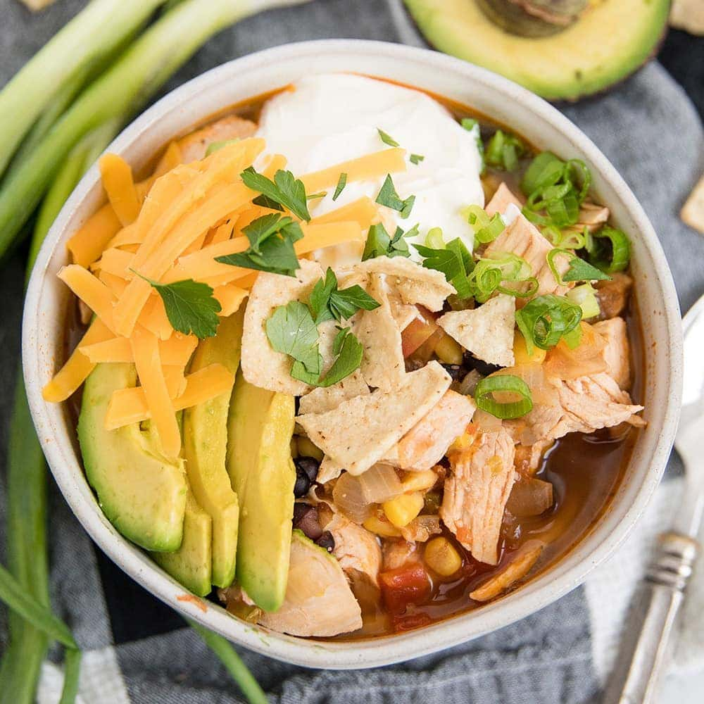 Easy Chicken Tortilla Soup In 30 Minutes