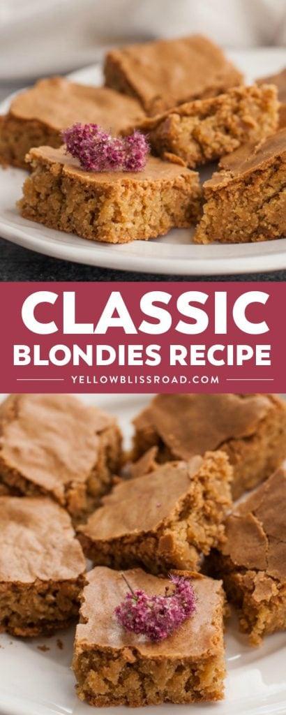 Classic Blondies recipe