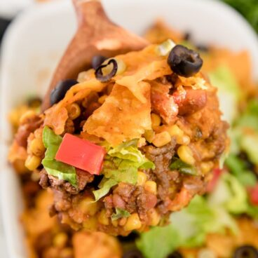 Social media image of Doritos Taco Salad Casserole