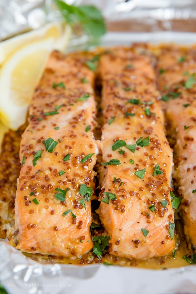 honey mustard glazed baked salmon recipe
