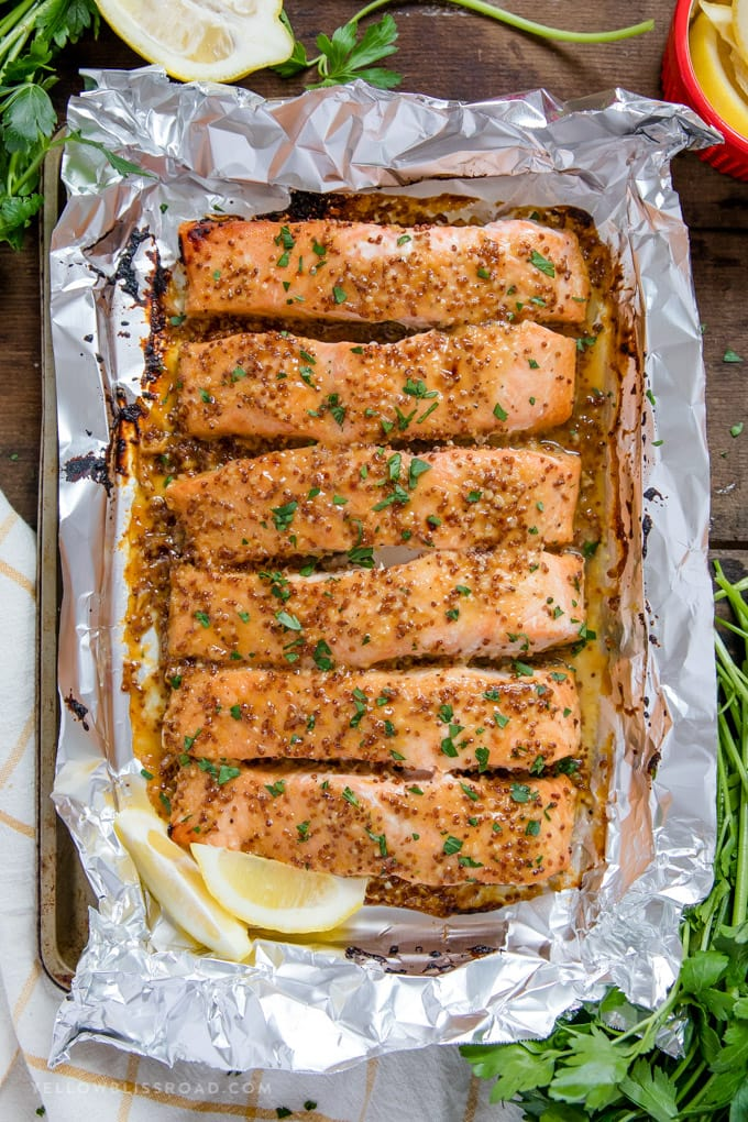 Baked Honey Mustard Salmon  recipe