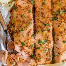 Baked Honey Mustard Salmon