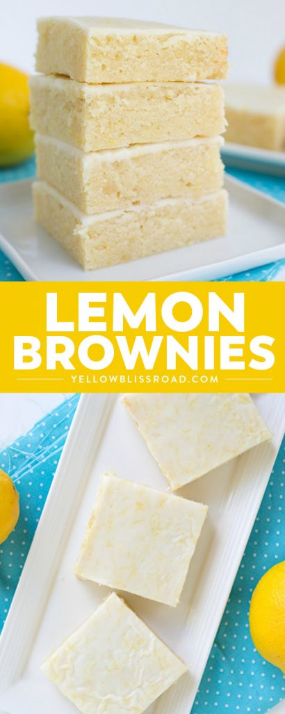 Sweet and tangy Lemon Brownies are the perfect bar for summer! They're super easy to make and the fresh lemon keeps the bars tasting so light. For an extra pop of flavor, add a lemon glaze to the top!